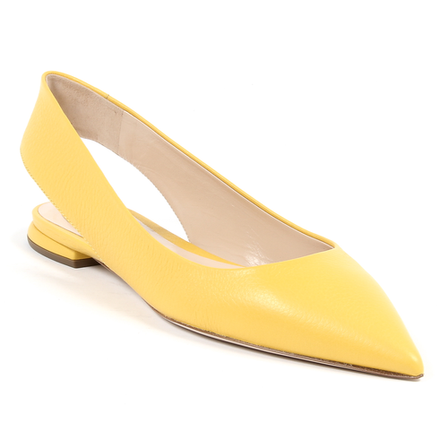Andrew Charles By Andy Hilfiger Womens Ballerina Yellow MADISON