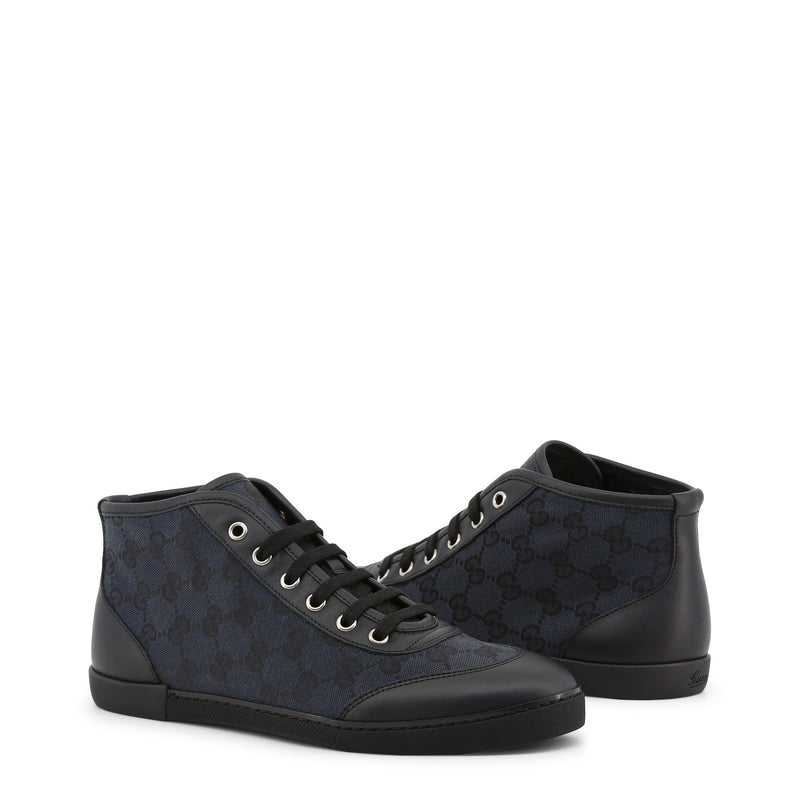 Gucci Women's High Top Blue Sneakers
