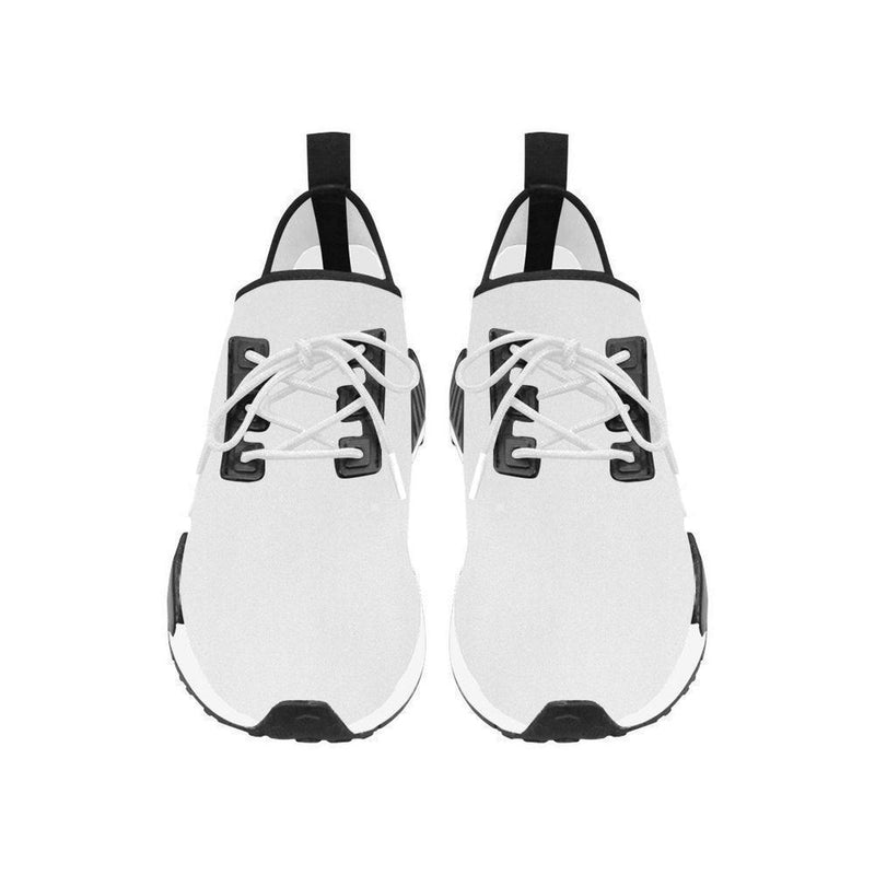No Fixed Abode Mens White Trainer Shoe with Black Lion, Run Style