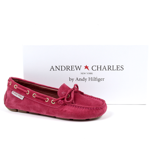 Andrew Charles Womens Loafer Fuxia CAMILLA
