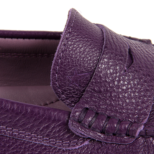 Andrew Charles Womens Loafer Purple MAX