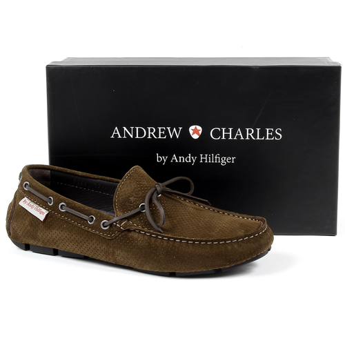 Andrew Charles Mens Loafer Dark Green OTTO