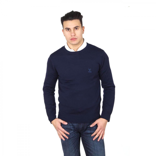 V 1969 Italia mens round neck sweater 9800 GIROCOLLO BLU NAVY