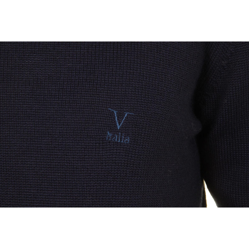 V 1969 Italia mens round neck sweater 9802 GIROCOLLO BLU NAVY