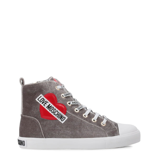 Love Moschino Women's Casual High Top Sneakers - Grey