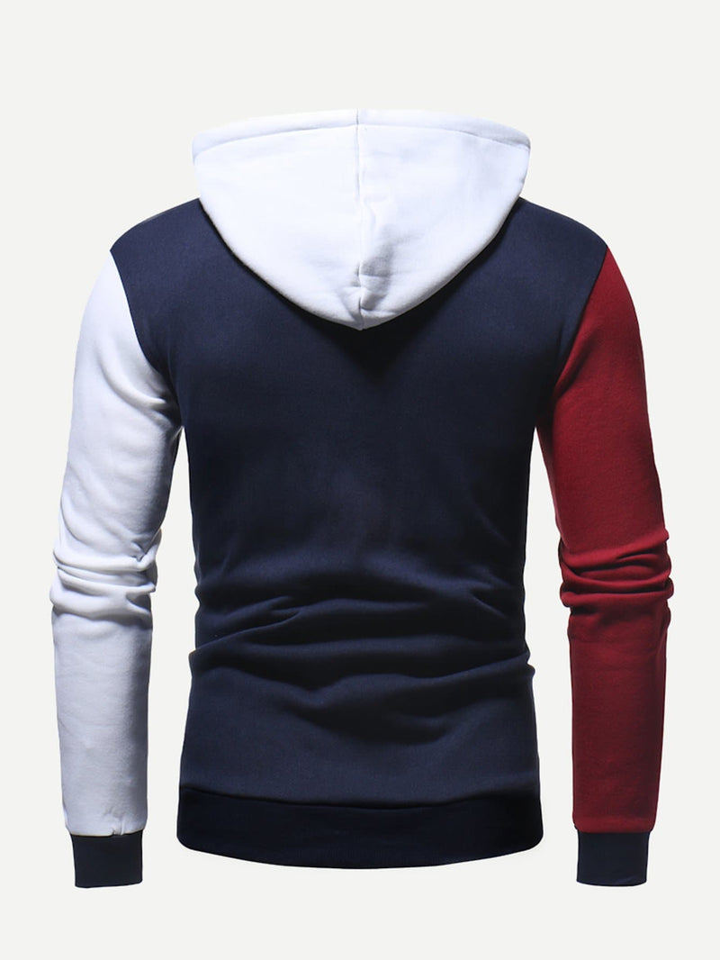 Mens Cut And Sew Panel RBW Hoodie