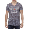 Andrew Charles Mens T-Shirt Short Sleeves V-Neck Black ISAAC