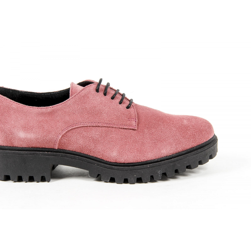 V 1969 Italia Womens Lace Up Shoe C01 CAMOSCIO FUXIA