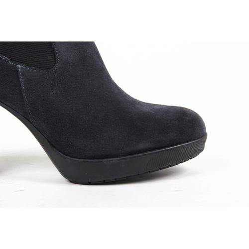 V 1969 Italia Womens Ankle Boot C17 VELOUR BLU