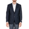 Canali Mens Jacket Long Sleeves Blue