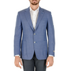 Canali Mens Jacket Long Sleeves Light Blue