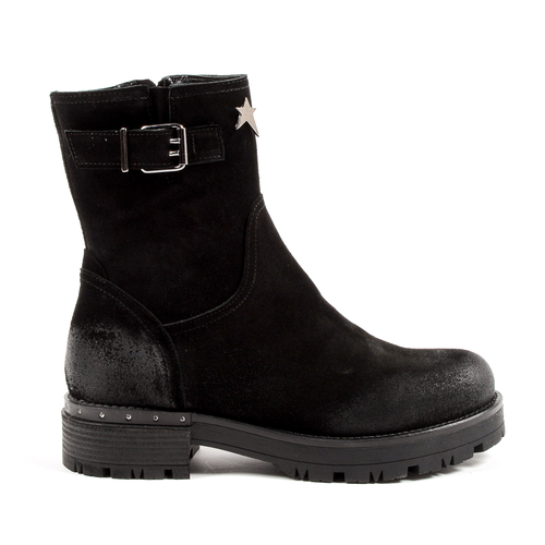 Andrew Charles Womens Short Boot Black BONNIE