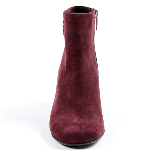 Andrew Charles Womens Heeled Ankle Boot Bordeaux DOLLY