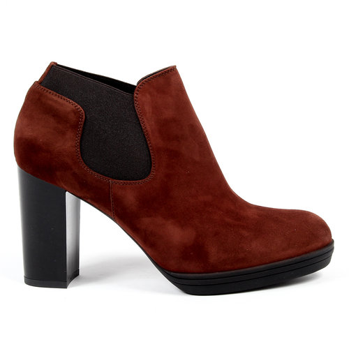 V 1969 Italia Womens Heeled Ankle Boot Dark Red GRACY