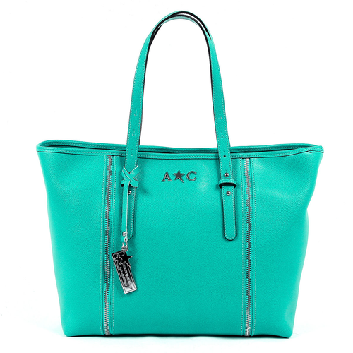 Andrew Charles Womens Handbag Green ETHEL