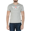 Andrew Charles Mens T-Shirt Short Sleeves V-Neck Light Grey KENAN