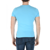 Andrew Charles Mens T-Shirt Short Sleeves Round Neck Light Blue KEITA