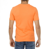 Andrew Charles Mens T-Shirt Short Sleeves Round Neck Orange KEITA