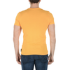 Andrew Charles Mens T-Shirt Short Sleeves Round Neck Yellow KEITA