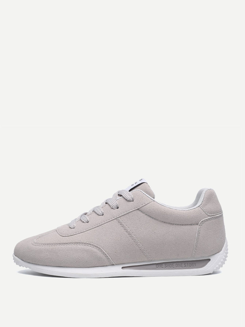 Men Lace-up Suede Sneakers