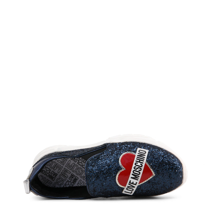 Love Moschino Women's Glitter Slip On - Blue