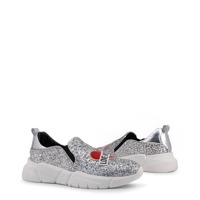 Love Moschino Women's Glitter Slip On - Grey
