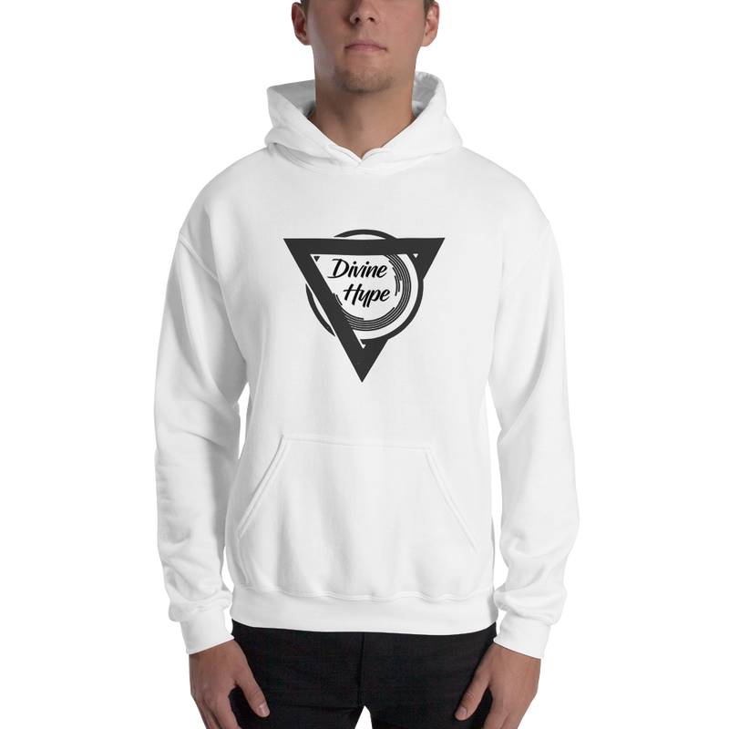 DivineHype Original Mens Hooded Sweatshirt White