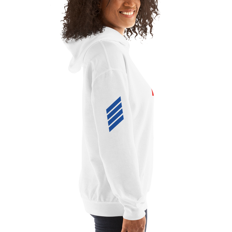 DivineHype Couture Womens Hooded Sweatshirt White