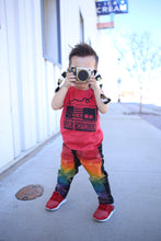 Boys Rainbow Jeans Black Denim