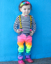 Girls Full Neon Rainbow Skinny Jeans