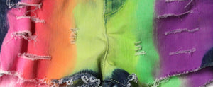 Boys Neon Rainbow Denim Shorts II