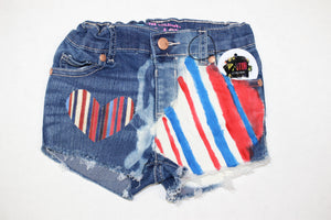 Love RWB Denim Shorties