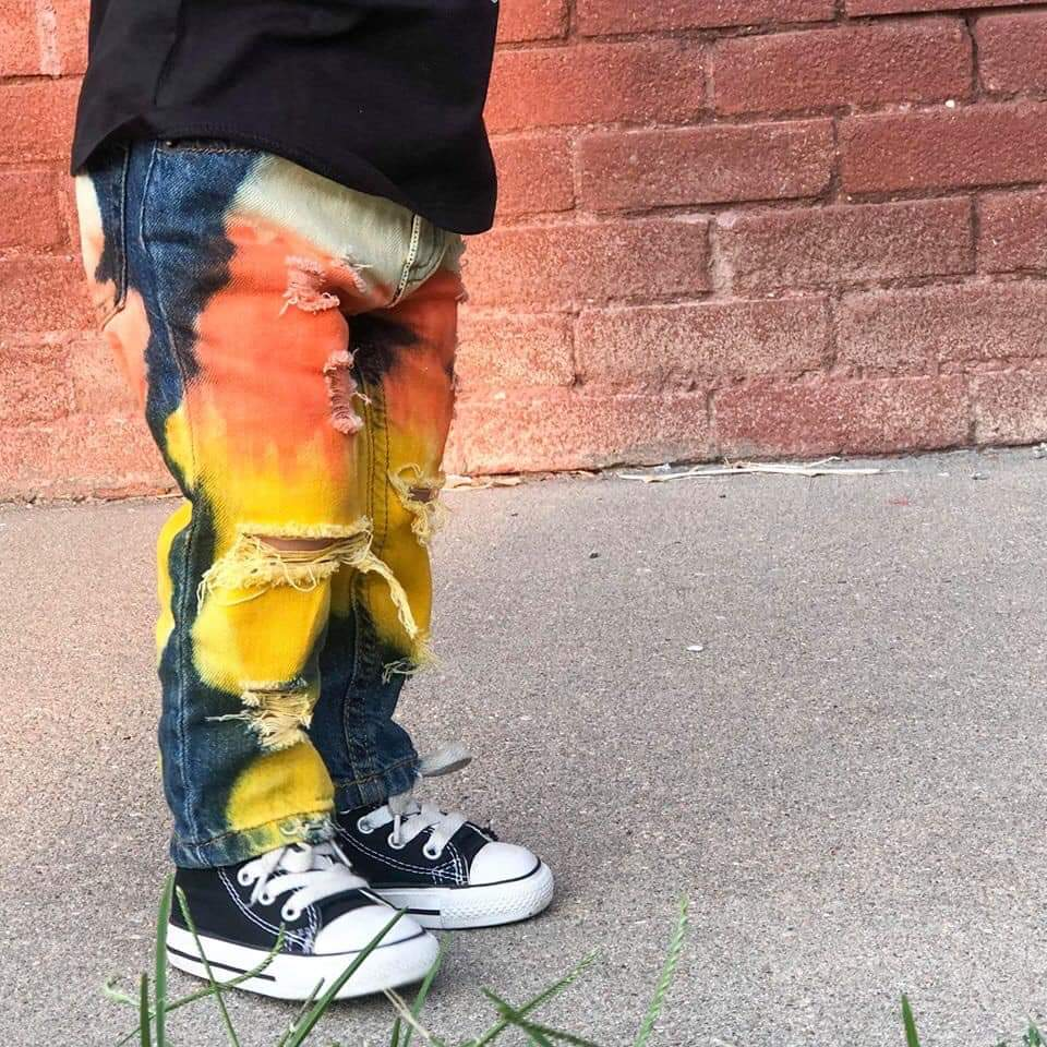 Boys Candy Corn Skinny Jeans or Shorts