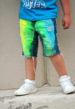 Boys Sour Neon Denim Shorts