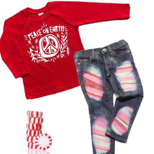 Candyland Peppermint Skinny Jeans or Shorts Boy or Girl