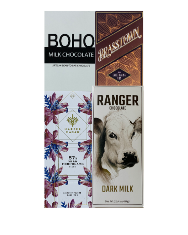 Milk Chocolate Bundle - 4 bars - FREE SHIPPING
