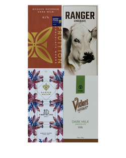 Milk Chocolate Selection - 4 bar subscription bundle - FREE SHIPPING