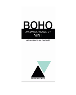 Boho 70% Dark Chocolate+Mint