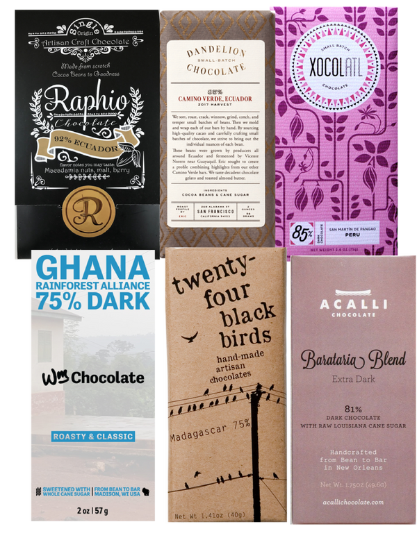 Dark Chocolate Selection - 6 pack (FREE SHIPPING)