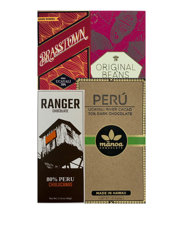 Peru Single Origin Bundle - 4 bars - FREE SHIPPING