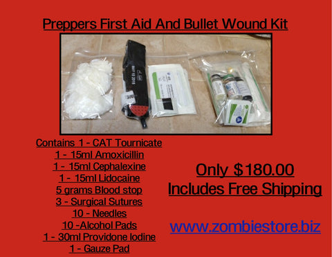 Preppers First Aid And Bullet Wound Kit