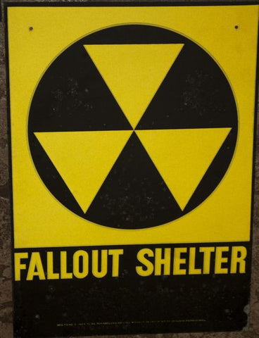 Original 1950's Fallout Shelter Sign
