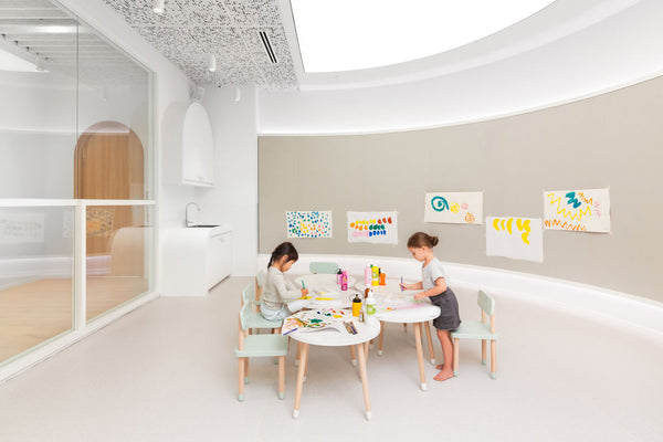 kids playing in activity room