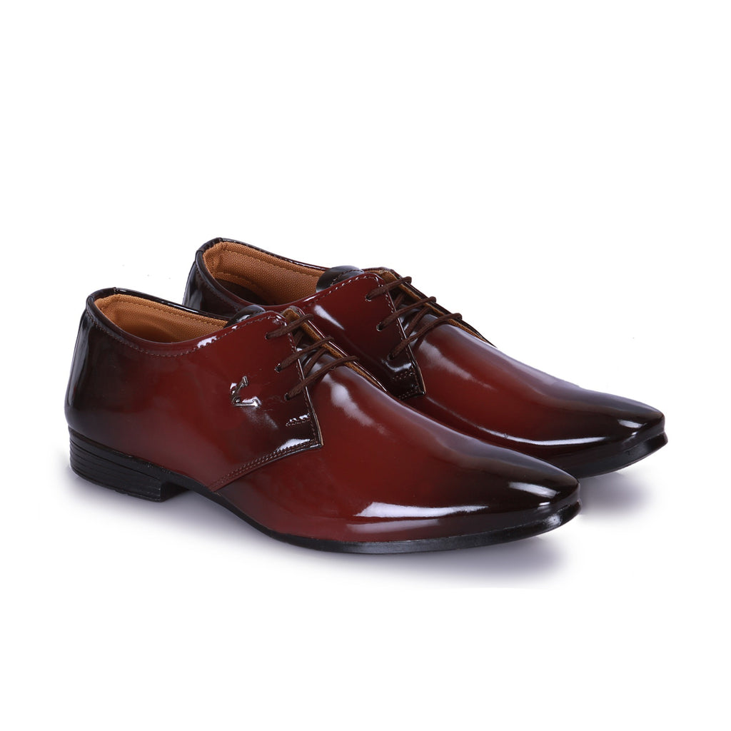Black And Red Shiney derby Shoe