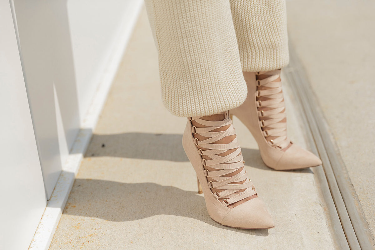 The AVALON Bootie in Nude