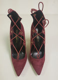 ALAIAH LACE UP PUMP - WINE (SAMPLE)