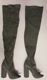 SHAYLA LYCRA THIGH HIGH BOOT - OLIVE (SAMPLE)