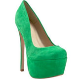 Zigi Girl SPYGLASS Platform Pump in Alpine Green Suede at FLYJANE