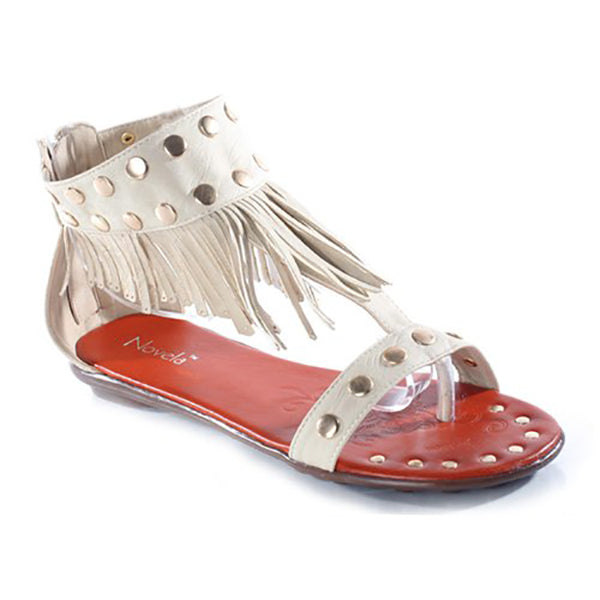 KIRK Fringe Gladiator Sandals at FLYJANE | Cute Thong Sandals | Black Sandals | Beige Sandals | Open Toe Sandals | Cute Sandals under $25 | Shop FLYJANE on Instagram