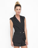 FOLLOW SUIT BLAZER SHORT SET - BLACK